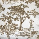 Minky Toile Fabric - Brown