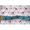 Pink Giraffe Print Cotton Interlock